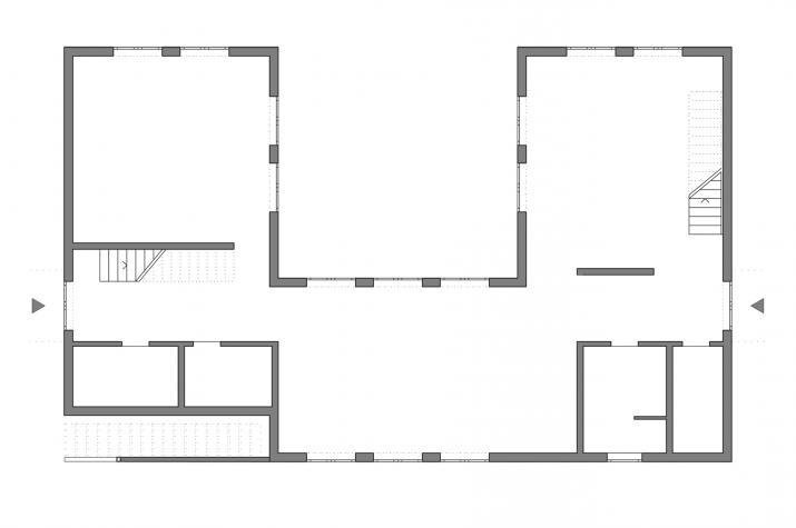 Das Geschwisterhaus 2 in 1 H02 - Grundriß EG schematisch
