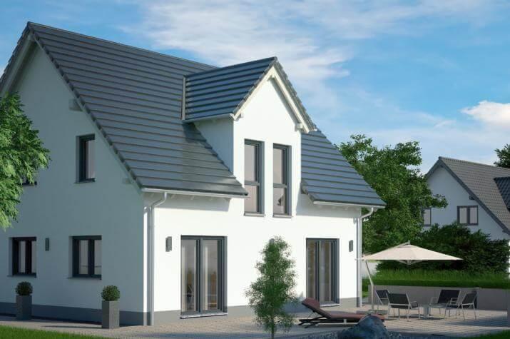 Das klassische EFH mit zahlreichen innovativen Möglichkeiten zur Gestaltung - Haus mit weißem Putz und Stadtgiebel