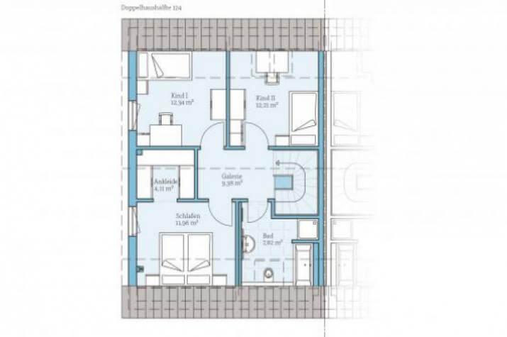 Doppelhaus 45-123 - Dachgeschoss