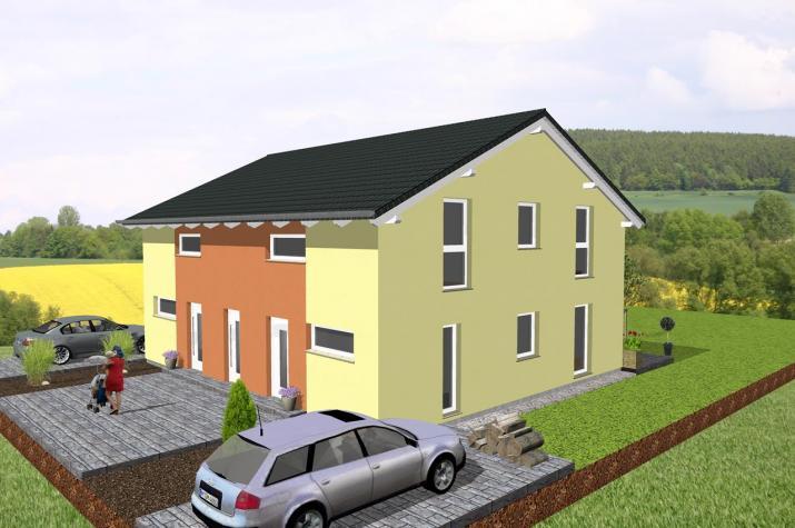 Doppelhausähnliches Zweifamilienhaus - www.jk-traumhaus.de -