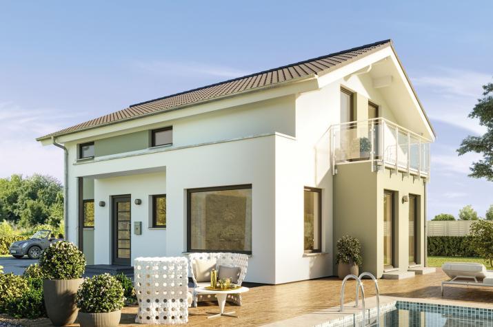 EDITION 123 V4 - Modernes Traumhaus mit großen Fensterflächen, Panorama-Erker und Balkon