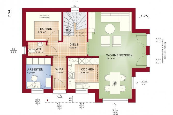 EDITION 123 V4 - Grundriss Erdgeschoss