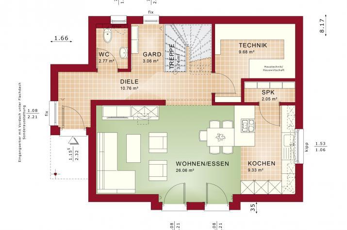 EDITION 125 V5 - Grundriss Erdgeschoss