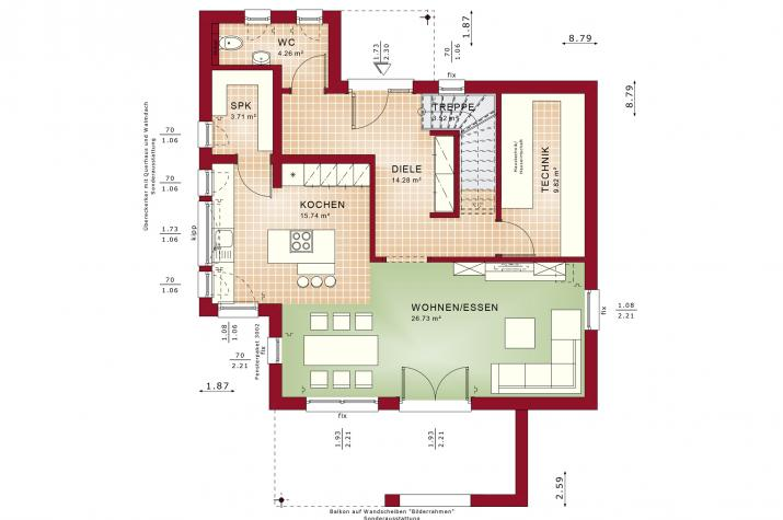 EVOLUTION 124 V4 - Grundriss Erdgeschoss