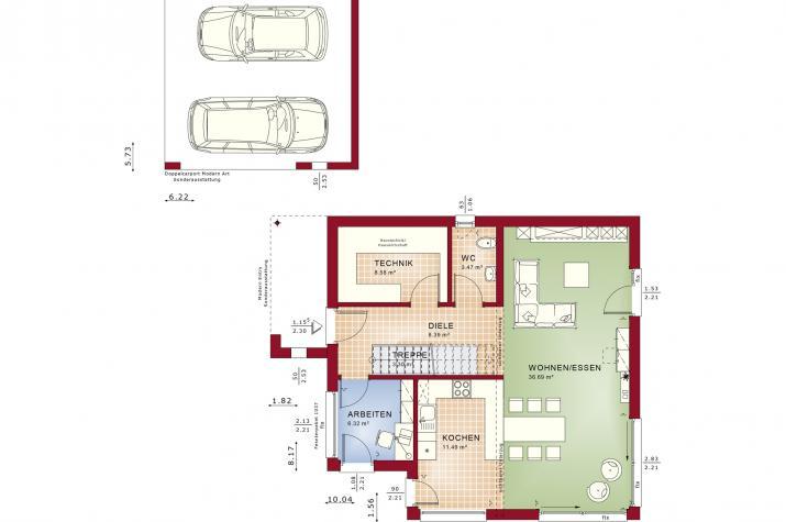 EVOLUTION 134 V5 - Grundriss Erdgeschoss