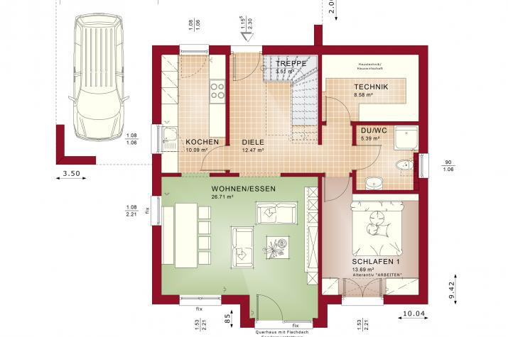 EVOLUTION 152 V5 - Grundriss Erdgeschoss