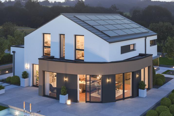 EVOLUTION 163 V3 - Extravagantes Traumhaus mit Circle-Wall, Green-Wall und Carport