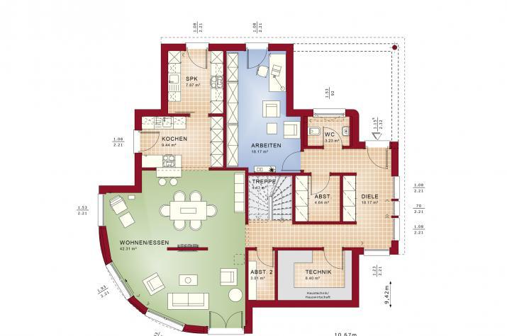 EVOLUTION 163 V3 - Grundriss Erdgeschoss