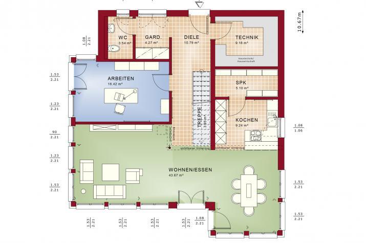 EVOLUTION 177 V4 - Grundriss Erdgeschoss