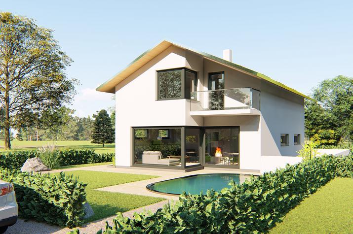Einfamilienhaus Darmstadt - Gartenansicht