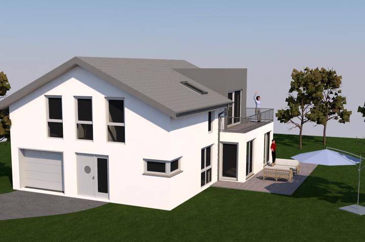 Einfamilienhaus Klein-Auheim - EFH mit Garage und Flachdachgaube