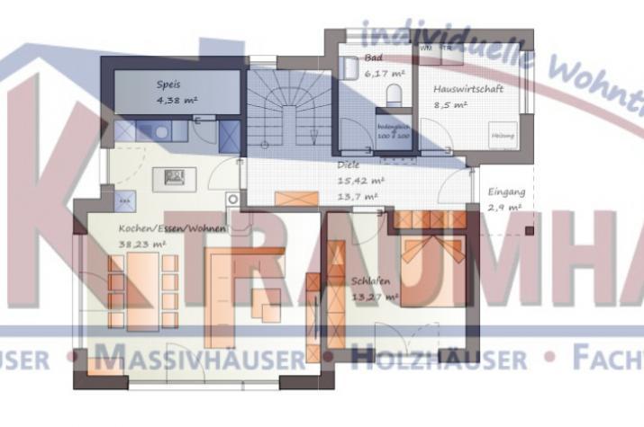 Einfamilienhaus kombiniert mit Flachdachanbauten - www.jk-traumhaus.de - Grundriss EG