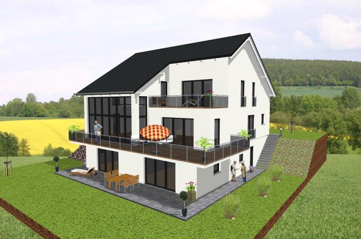 Einfamilienhaus mit zwei Einliegerwohnungen- www.jk-traumhaus.de -