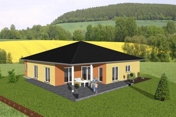 Großzügiger Winkelbungalow mit Gewerbeeinheit - www.jk-traumhaus.de -