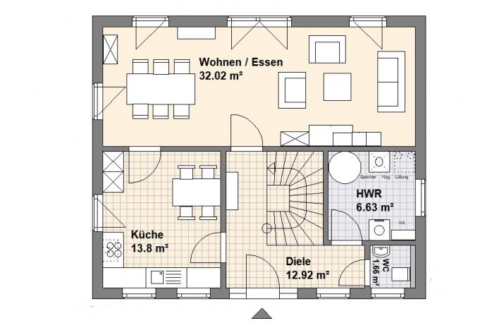 Haus Heiligendamm - Grundriss Erdgeschoss