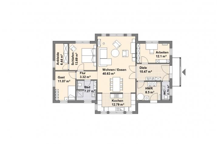 Haus Westerstede - Grundriss Variante 1
