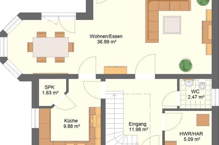 Klassik 11.13 - Skizze Erdgeschoss