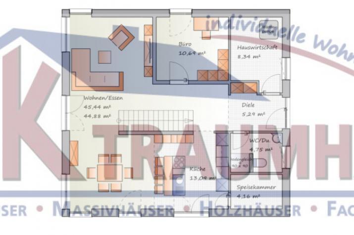 Klassisches Einfamilienhaus mit interessanten Details - www.jk-traumhaus.de - Grundriss EG
