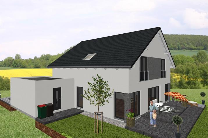 Klassisches Einfamilienhaus mit interessanten Details - www.jk-traumhaus.de -