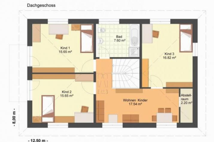 Kowalski - Haus - Villa Agnes 150 - grundriss dg