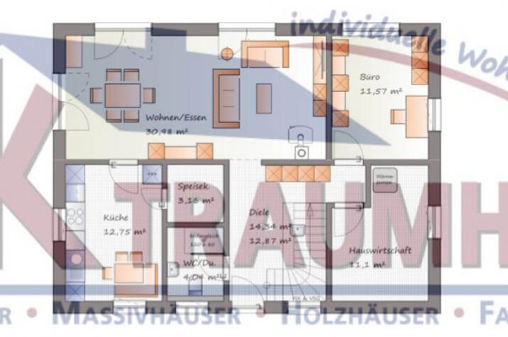 Moderner Klassiker für die größere Familie - www.jk-traumhaus.de - Grundriss EG