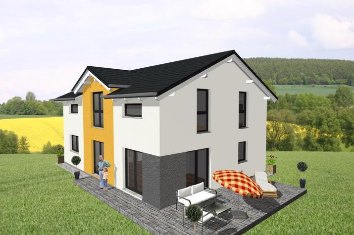 Moderner Klassiker für die größere Familie - www.jk-traumhaus.de -