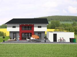Modernes Einfamilienhaus mit interessanter Architektur-www.jk-traumhaus.de