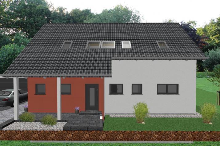 Modernes Zweifamilienhaus mit Bürotrakt - www.jk-traumhaus.de -