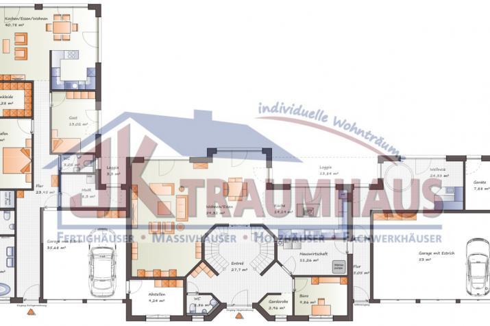 Repräsentative Villa mit Nebengebäuden - www.jk-traumhaus.de - Grundriss EG