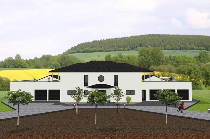 Repräsentative Villa mit Nebengebäuden - www.jk-traumhaus.de -