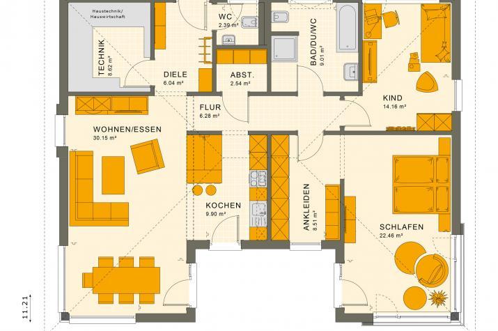 SOLUTION 101 V3 - Grundriss Erdgeschoss