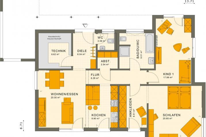 SOLUTION 101 V4 - Grundriss Erdgeschoss