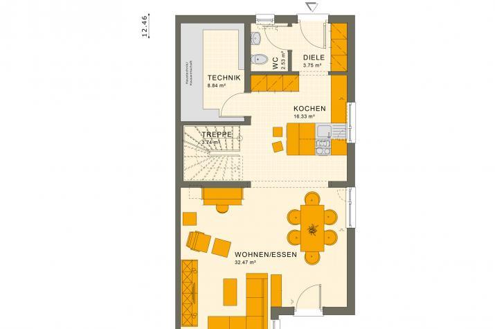 SOLUTION 124 XL V4 - Grundriss Erdgeschoss