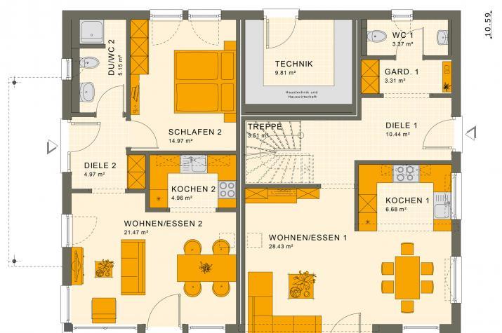 SOLUTION 230 V6 - Grundriss Erdgeschoss