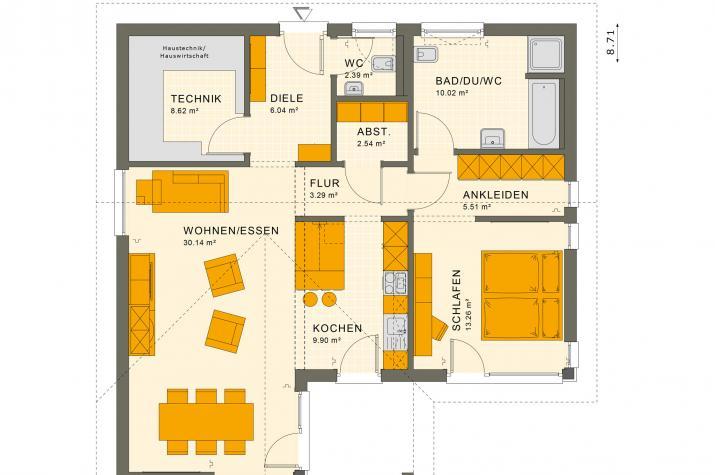 SOLUTION 82 V2 - Grundriss Erdgeschoss