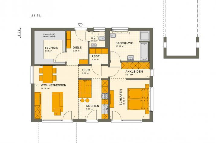 SOLUTION 82 V4 - Grundriss Erdgeschoss