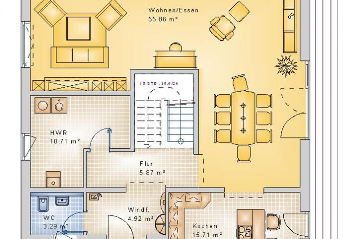 STADTVILLA HERDORF 50-025 - Grundriss Erdgeschoss