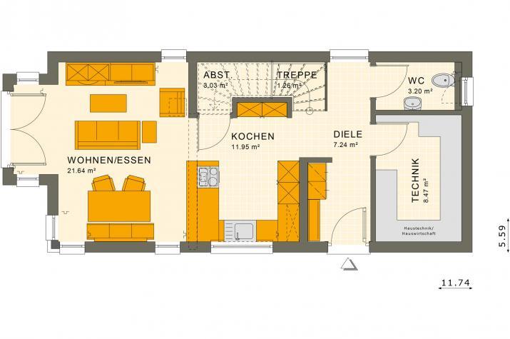 SUNSHINE 107 FD - Grundriss Erdgeschoss