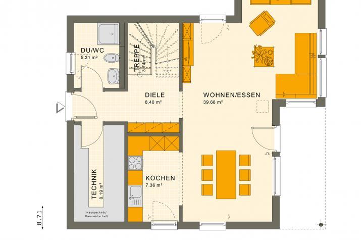 SUNSHINE 126 V7 - Grundriss Erdgeschoss