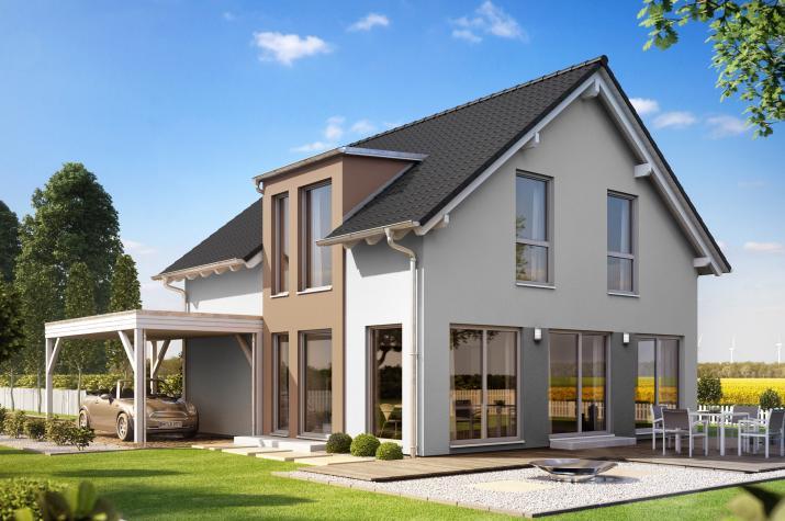 SUNSHINE 136 V2 - Schickes Satteldachhaus für die ganze Familie
