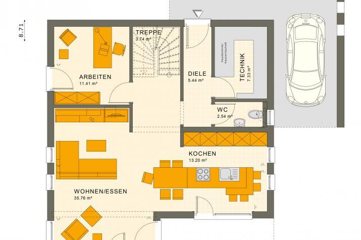 SUNSHINE 143 V7 - Grundriss Erdgeschoss