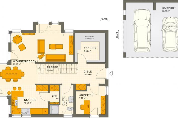 SUNSHINE 144 V3 - Grundriss Erdgeschoss