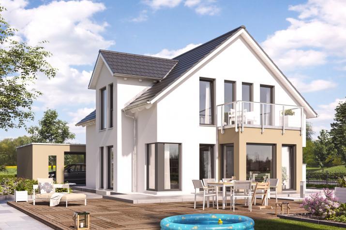 SUNSHINE 144 V3 - Großzügiges Einfamilienhaus mit Wintergarten-Erker und Doppelcarport