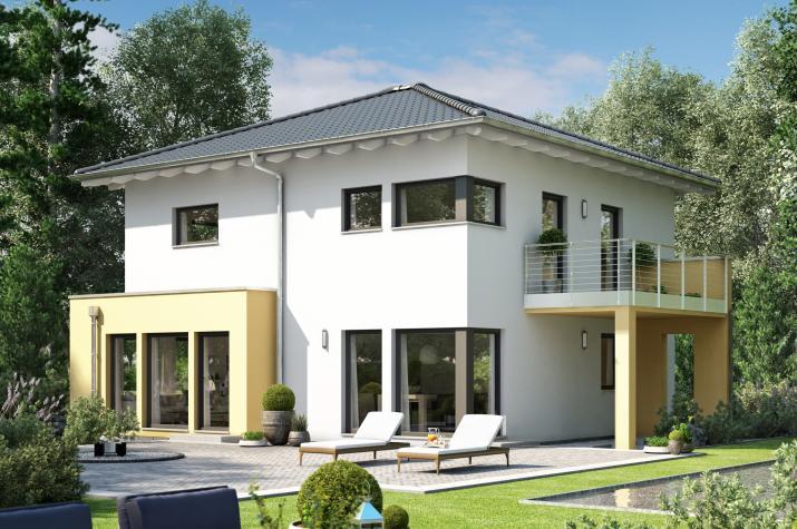 SUNSHINE 151 V7 - Traumhaftes Einfamilienhaus mit Übereck-Panoramaerker und Balkon