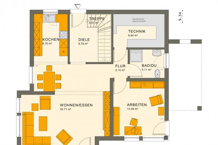 SUNSHINE 151 V7 - Grundriss Erdgeschoss