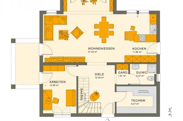 SUNSHINE 165 V5 - Grundriss Erdgeschoss
