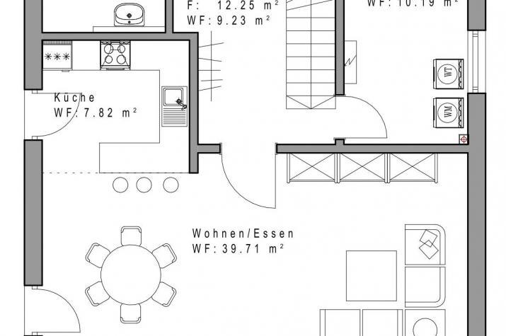 Sachsenheimer Fertighaus SD132 - EG