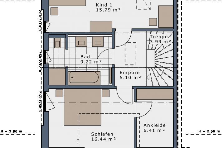 SmartSpace-D-111 Entwurf 6 - Grundriss Dachgeschoss