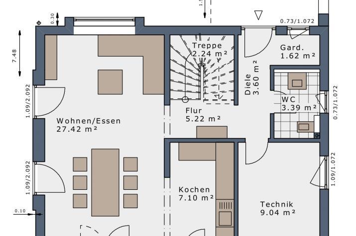 SmartSpace-E-120 Entwurf 2 - Grundriss Erdgeschoss