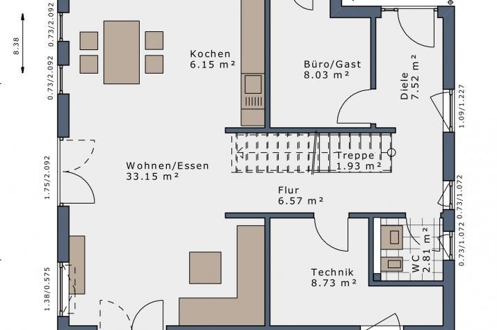 SmartSpace-E-140 Entwurf 4 - Grundriss Erdgeschoss